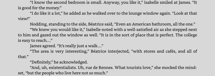 "Excerpt from ""Distances,"" on the iPad app for Kindle. Click to expand."