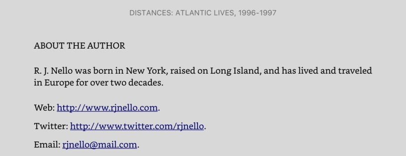 """Screen capture of last page of """"Distances,"""" on Kindle for iPad."""