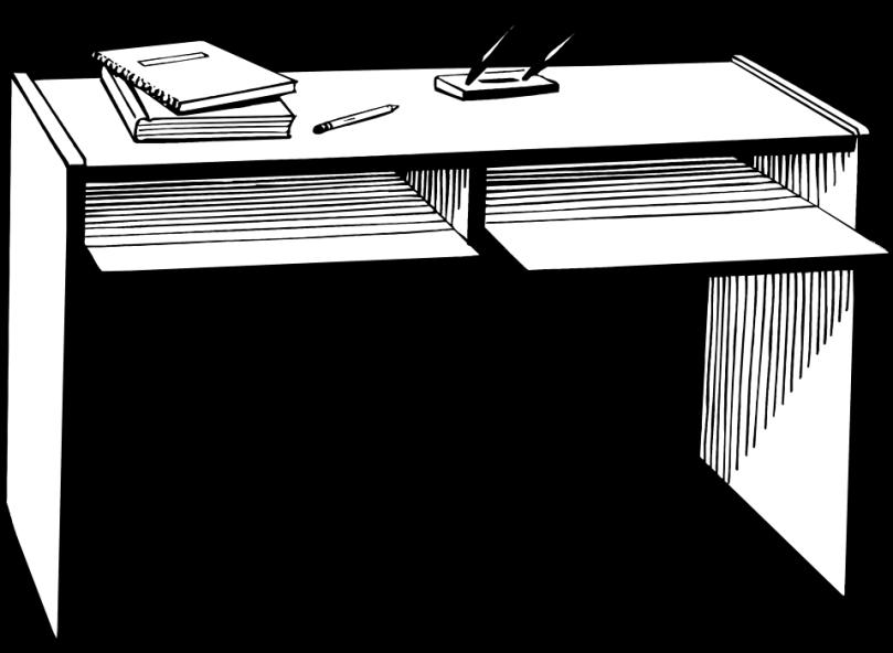 Free Stock Photo: Illustration of a desk.