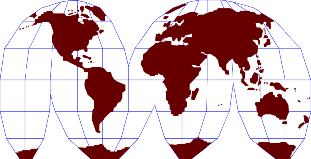 Free Stock Photo: Illustration of a map of the world.