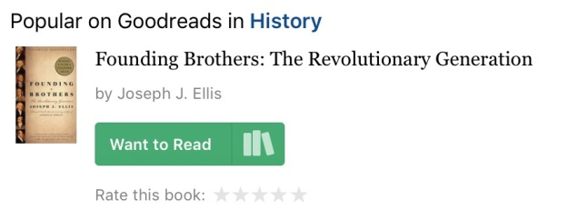 Screen capture of Goodreads.