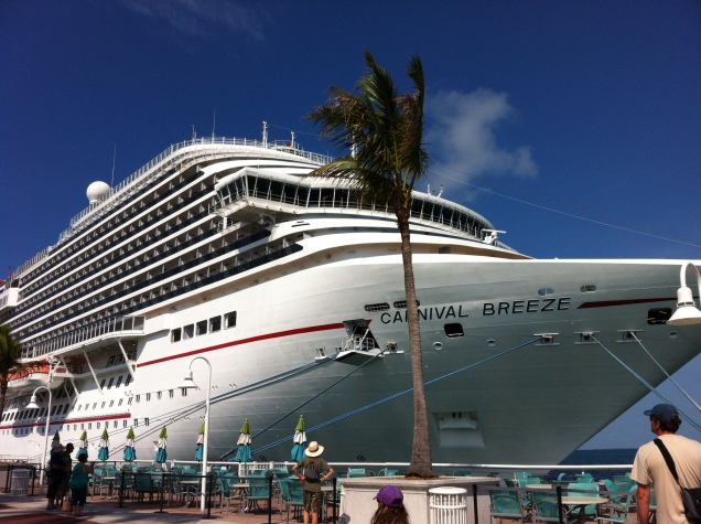 Cruise ship. Key West, Florida. [Photo by me, 2014.]