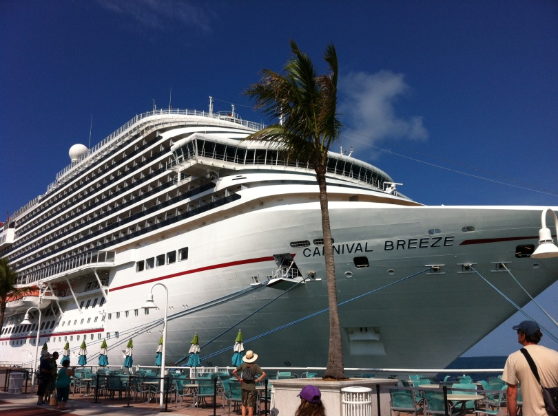 Cruise ship. Key West, Florida. [Photo by me, 2014.]
