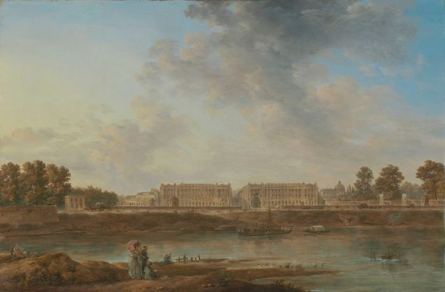 "Attributed to Alexandre-Jean Noël (French) (1752-1834). ""A View of Place Louis XV"". About 1775-1787. [Public Domain. Wikipedia.]"