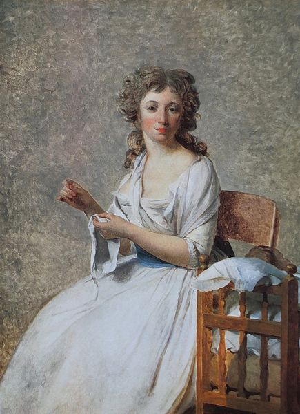 "Jacques-Louis David (French) (1748-1825). ""Portrait of Madame Adélaide Pastoret."" Between 1791-1792. [Public Domain. Wikipedia.]"