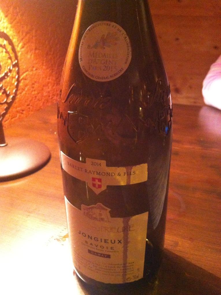Dinner bottle of wine last night. [Photo by me, 2016.]
