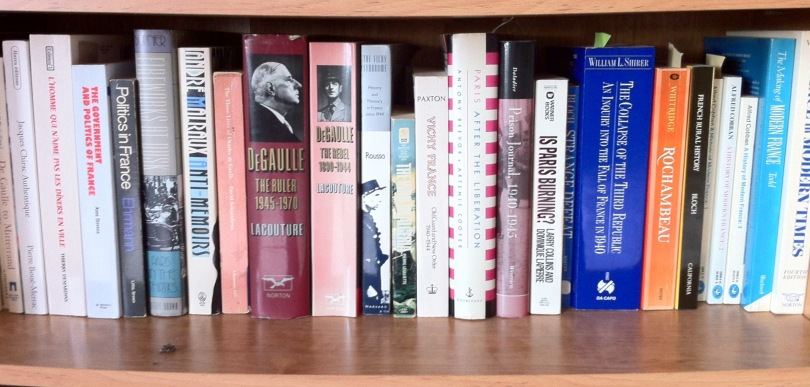 One of my bookshelves. [Photo by me, 2016.]