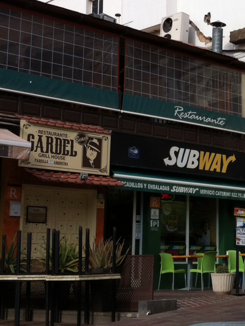 A Subway, next to an Argentinian place. Tenerife, Canary Islands, Spain. [Photo by me, 2016.]