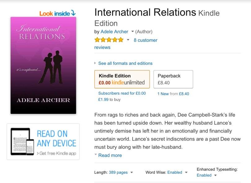 Screen capture of Amazon.co.uk.