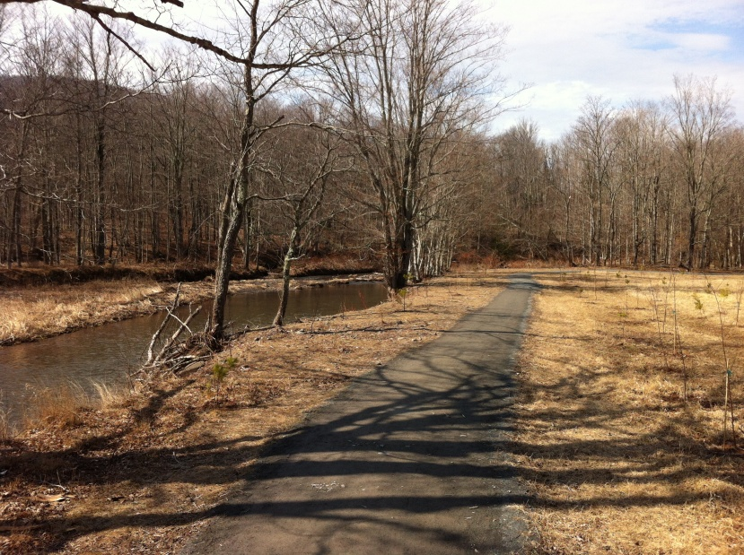 """A view of part of the Catskills """"Windham Path,"""" a few weeks ago. [Photo my me, 2016.]"""