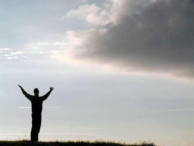 Free Stock Photo: Man reaching the sky.