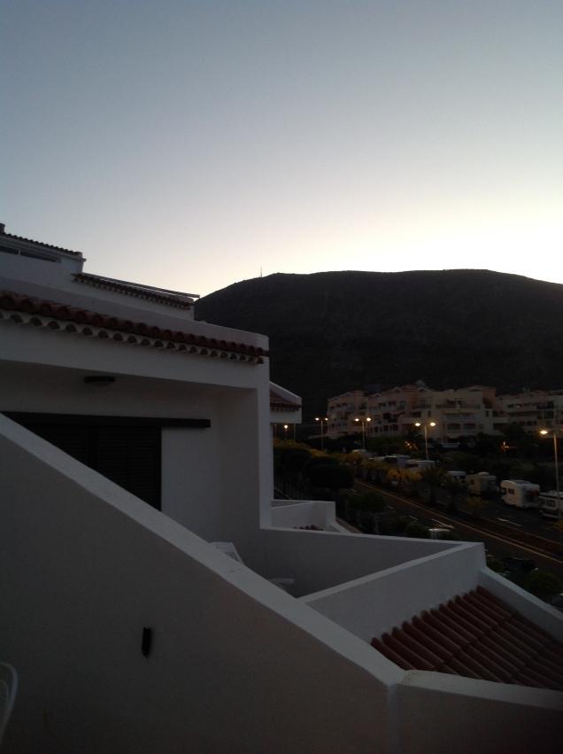 Pre-dawn today, around 7:45am, Tenerife, Canary Islands, Spain. [Photo by me, 2016.]