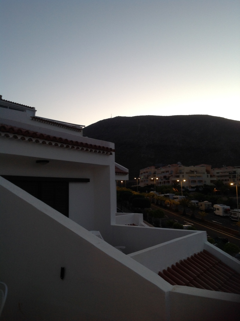Pre-dawn today, around 7:45am, Tenerife, Canary Islands, Spain. [Photo by me, 2016.]