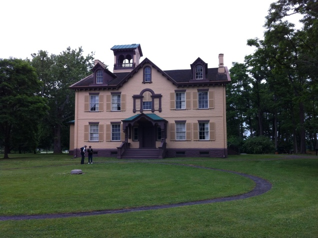 A view of President Martin Van Buren's Columbia County, New York home. [Photo by me, 2014.]