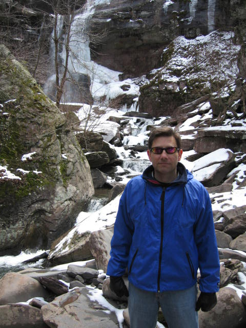 Kaaterskill Falls. [Photo of me, April 14, 2007.]