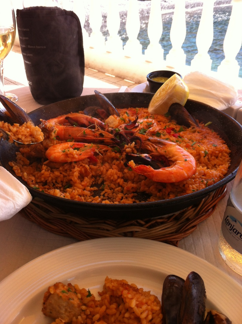Paella, in honor of my uncle. [Photo by me, 2016.]