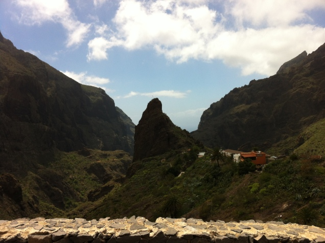 View from the top of Masca Gorge, Tenerife, Canary Islands, Spain. [Photo by me, 2016.]