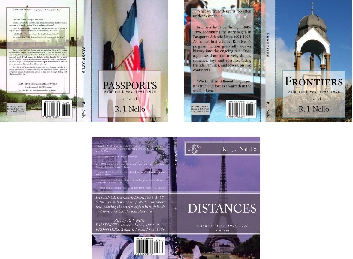 Novels so far, print edition covers.