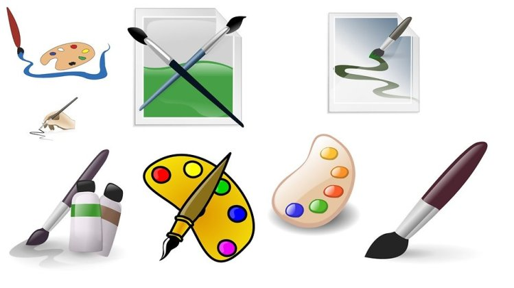 Free Stock Photo: Various art related clip art.