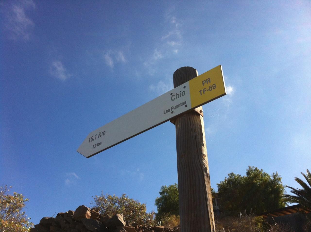 Walking signage. [Photo by me, 2016.]