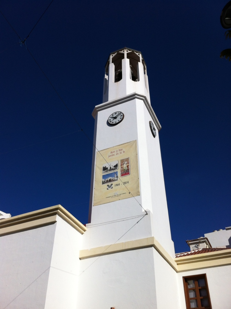Church steeple. Tenerife, Canary Islands, Spain. [Photo by me, 2016.]