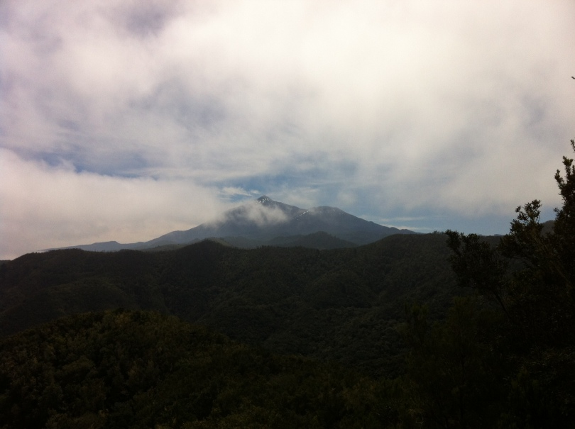 Teide in the clouds. Tenerife, Canary Islands, Spain. [Photo by me, 2016.]