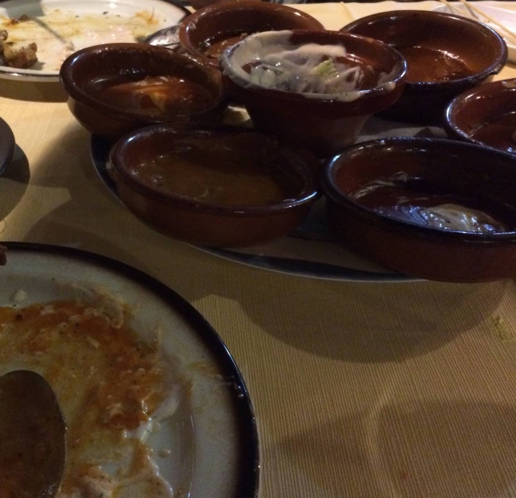 Tapas finished. [Photo by Mrs. Nello, 2016.]