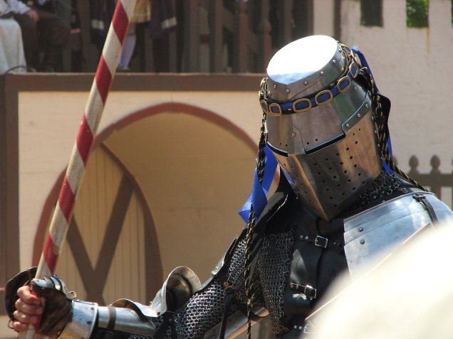 Free Stock Photo: Closeup of knight with lance.