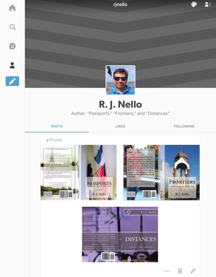 Screen capture of my new Tumblr site.