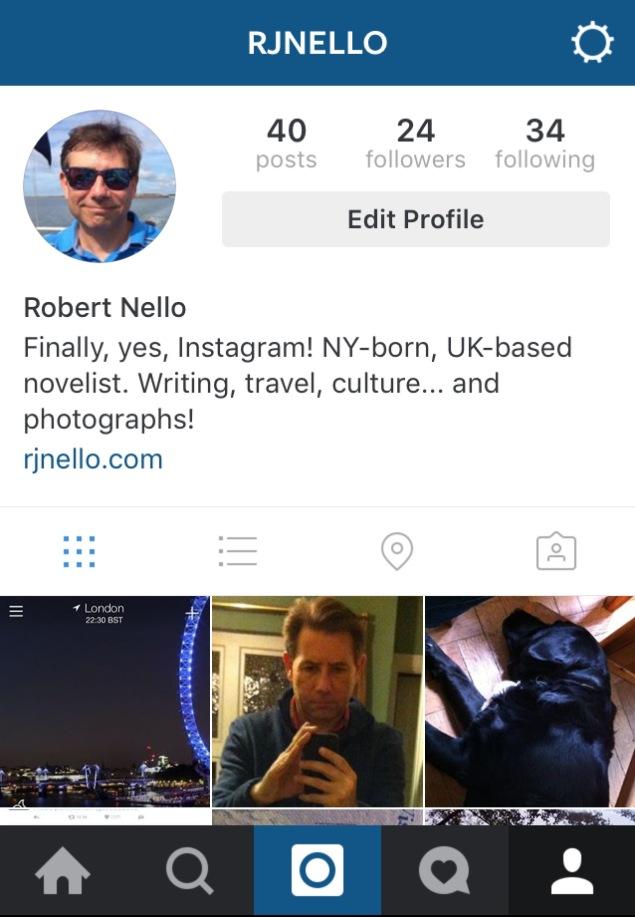 Screen capture of Instagram.