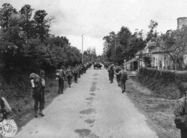 U.S. troops in Normandy, France, summer 1944. [U.S. Army photo. Public domain.]