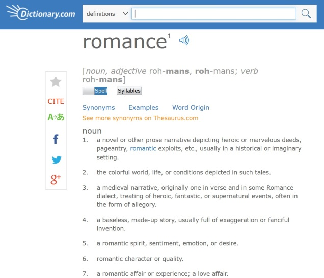 Screen capture of Dictionary.com.