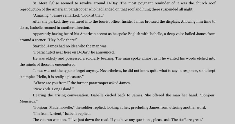 "Excerpt from ""Passports,"" on the iPad app for Kindle. Click to expand."