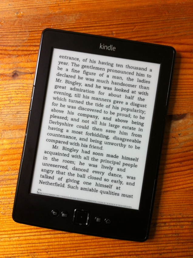 Kindle view of a page of an extremely well-known novel. [Photo by me, 2016.]