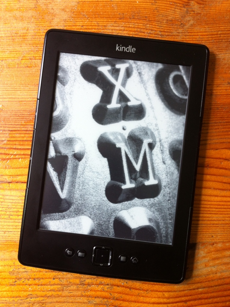 "Kindle ""art."" [Photo by me, 2016.]"