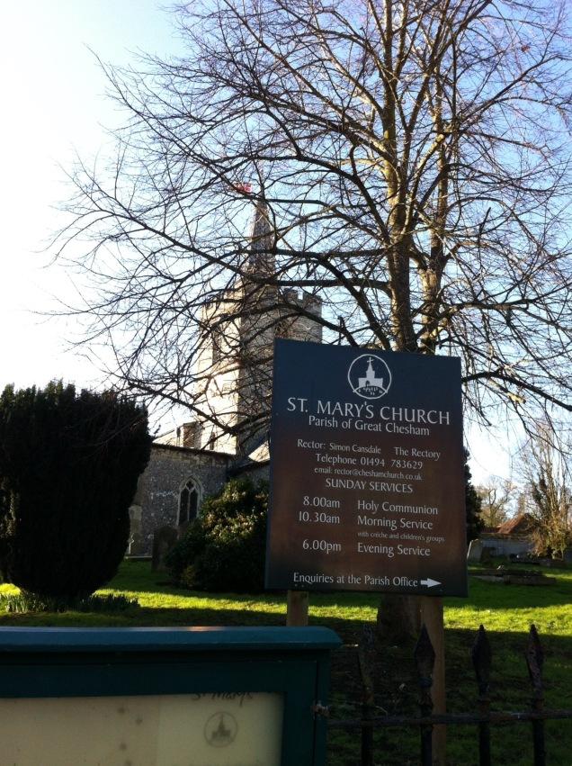 Parish church, Chesham, England. [Photo by me, 2016.]