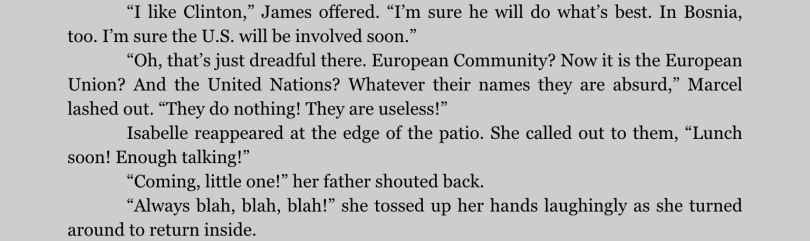 """Excerpt from """"Passports,"""" on the iPad app for Kindle. Click to expand."""
