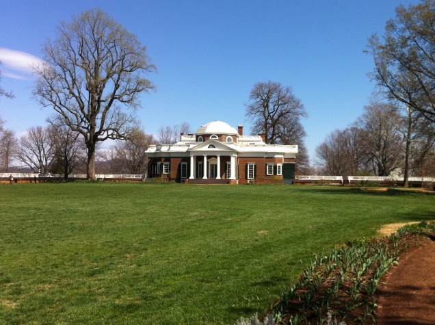 Thomas Jefferson's home, Monticello, Virginia. [Photo by me, 2011.]