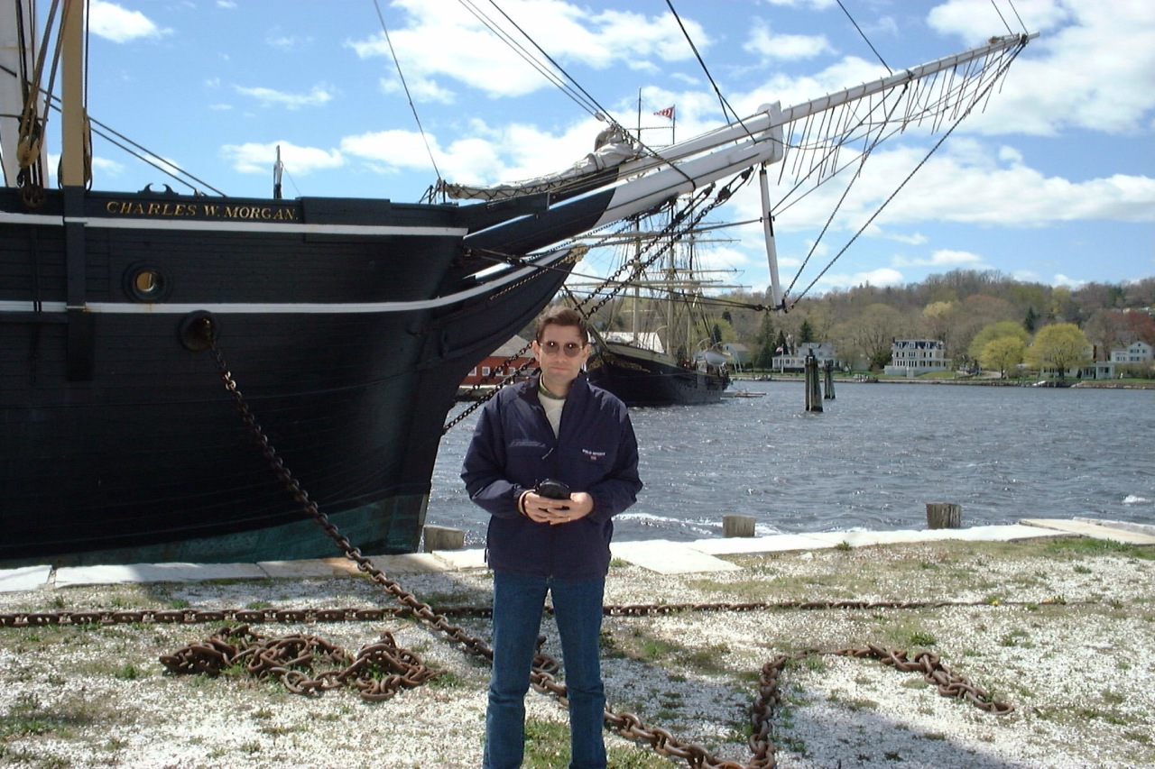 At the Charles W. Morgan, Mystic, Connecticut, April 2000. [Photo by Mrs. Nello.]