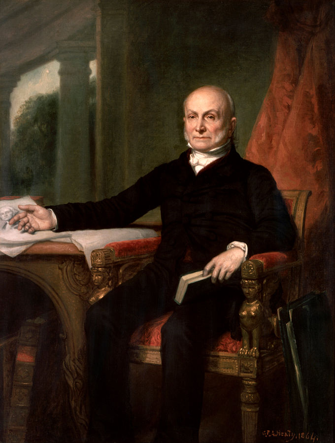 "George P.A. Healy,  1858: ""John Quincy Adams."" [Wikipedia. Public Domain.]"