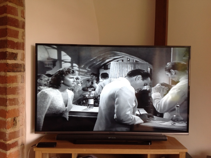 Photo of a scene in Casablanca on DVD. [Photo by me, 2016.]