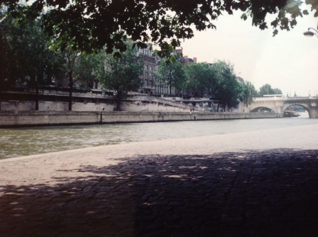 Along the Seine River, Paris, 1994. [Photo by me, 1994.]