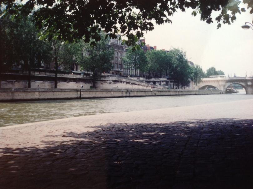 Along the Seine River, Paris, 1994. [Photo by me, 1994.]