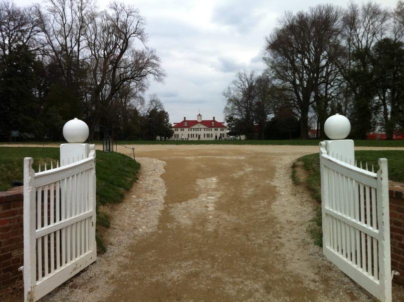 Main entrance. George Washington's Mount Vernon. Virginia. [Photo by me, 2011.]