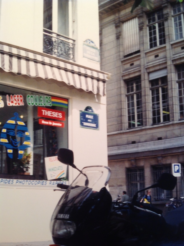 Place de la Sorbonne. [Photo by me, 1994.]