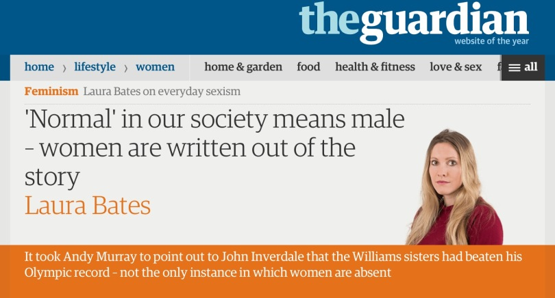 Screen capture of the Guardian.