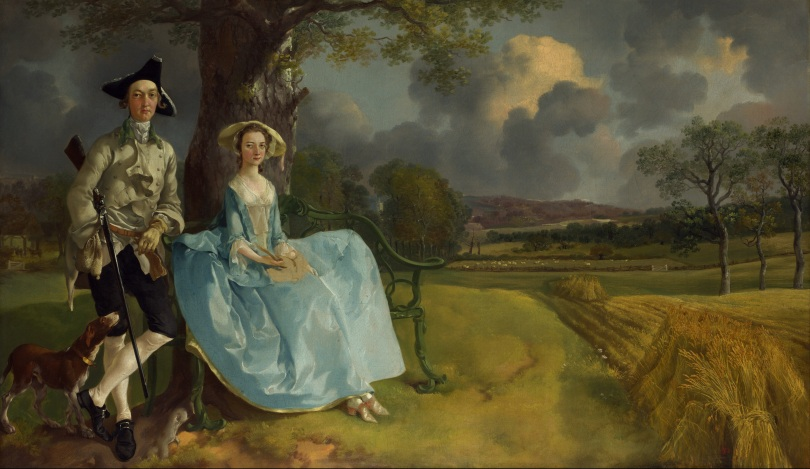 "Thomas Gainsborough (c. 1750): ""Mr and Mrs Andrews."" [Public Domain. Wikipedia.]"