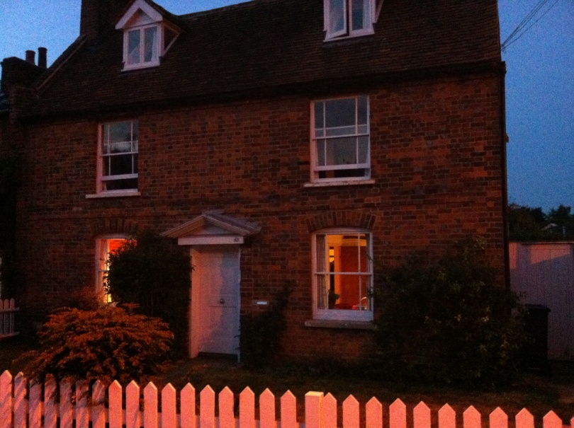 Our house, evening. Hertfordshire, England. [Photo by me, 2016.]