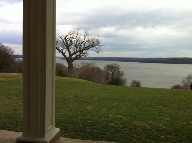 View over the Potomac River, from the back porch of George Washington's Mount Vernon home. [Photo by me, 2011.]