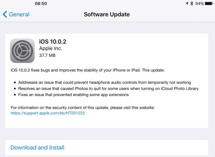 Screen capture of my iPad.